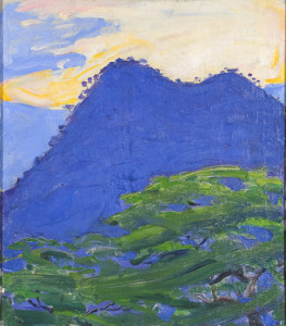 Akseli Gallen-Kallela: Hwandoni Hills, 1910. Öljymaalaus. Gallen-Kallelan Museo. Kuva: GKM / Jukka Paavola