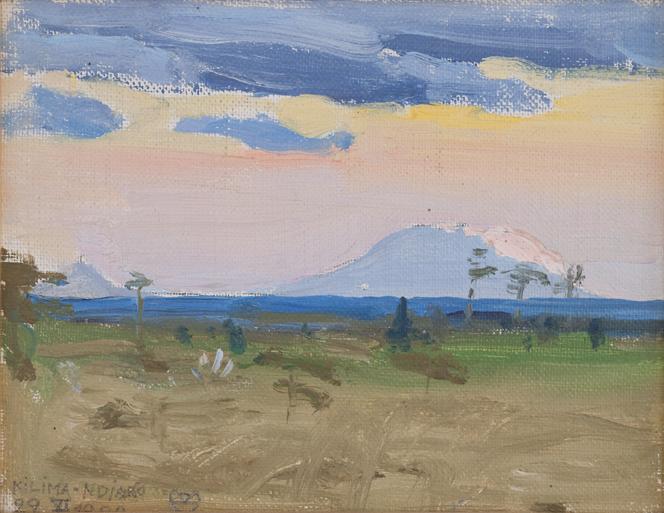 Akseli Gallen-Kallela: Kilima-ndjaro, 1909, öljymaalaus 13,5 x 17cm. Gallen-Kallelan Museo. Kuva: GKM / Petri Summanen