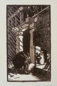 Akseli Gallen-Kallela: Inspiraatio, 1896, puupiirros. Gallen-Kallelan Museo. Kuva: Gallen-Kallelan Museo