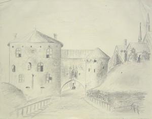 Akseli Gallen-Kallelan lapsuuden aikainen piirros. Kuva: Gallen-Kallelan Museo