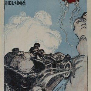 Akseli Gallen-Kallela: S. Nikolajeff J:or poster, 1907. Litography. The Gallen-Kallela Museum. Photo: GKM