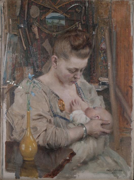 Akseli Gallen-Kallela: Madonna (Mary ja Marjatta), 1891