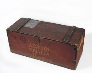 Akseli Gallen-Kallelan matka-arkku. Gallen-Kallelan Museo. Kuva: GKM / Jukka Paavola
