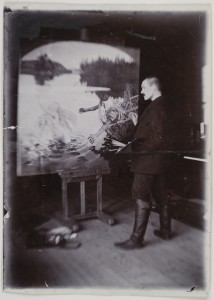Axel Gallén painting Aino at Malmi.