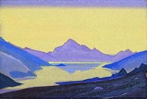 Nikolai Roerich: Järvi Himalajalla, 1937. © Valtiollinen Idän museo, Moskova.