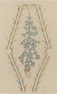 Akseli Gallen-Kallela: Jusélius-mausoleumin freskoluonnos, kuusi, 1901. Sigrid Juséliuksen Säätiö. Kuva: Sigrid Juséliuksen Säätiö