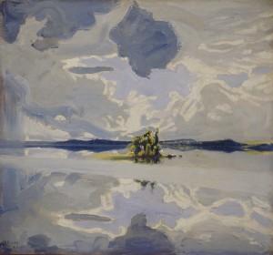 Akseli Gallen-Kallela: Pilviä järven yllä. 1904. Gallen-Kallelan Museo. Kuva: Gallen-Kallelan Museo / Douglas Sivén