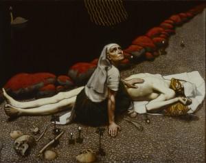 Akseli Gallen-Kallela: Lemminkäisen äiti, 1897, tempera. Ateneumin taidemuseo. Kuva: GKM / Douglas Sivén