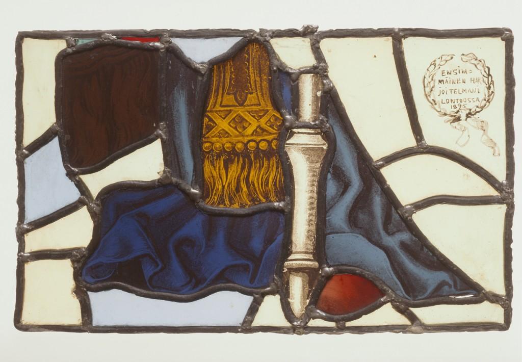 Akseli Gallen-Kallela: Ensimmäinen harjoitelmani Lontoossa, 1895. Lasimaalaus. yksityiskokoelma. Kuva: GKM / Douglas Sivén