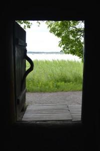 Näkymä Tarvaspään savusaunasta. Kuva: Gallen-Kallelan Museo