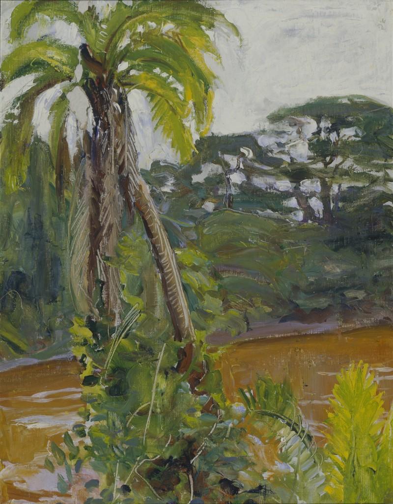 Akseli Gallen-Kallela: Tropiikin palmu Tana-joella, 1909 - 1910, öljymaalaus, Gallen-Kallelan Museo. Kuva: GKM / Douglas Sivén