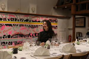 Taiteilija Nina Backman ja Hiljainen ateria Gallen-Kallelan Museossa 28.1.2016. Kuva: Kaisaleena Halinen.