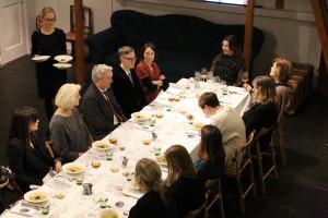 Hiljainen ateria Gallen-Kallelan Museossa 28.1.2016. Kuva: Kaisaleena Halinen.