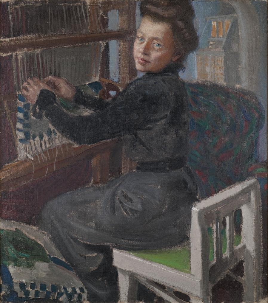 Akseli Gallen-Kallela: Mary kutoo, 1905, öljymaalaus. Yksityiskokoelma. Kuva: GKM / Petri Summanen.