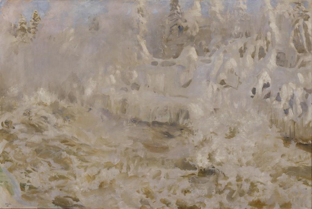 Akseli Gallen-Kallela: Talvinen Imatra, 1893. öljymaalaus. yksityiskokoelma. Kuva: GKM / Douglas Sivén